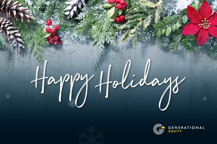 Happy Holidays Generational Equity 2020