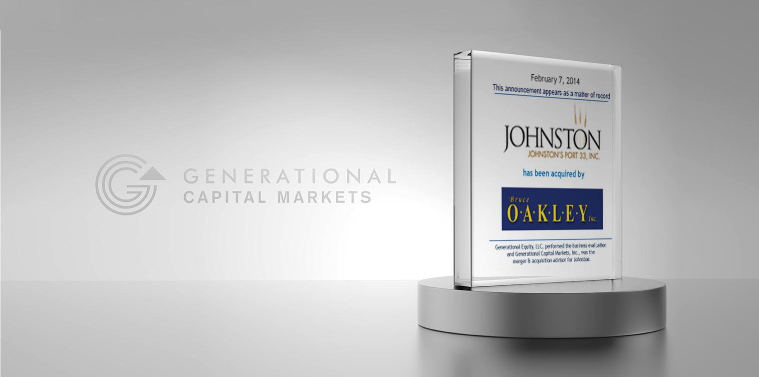 Johnston Port - Generational Capital Markets