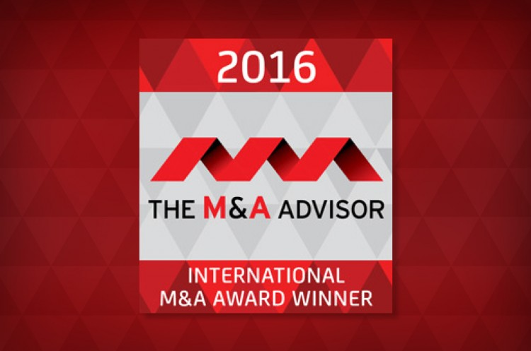 International M&A Advisor Winner